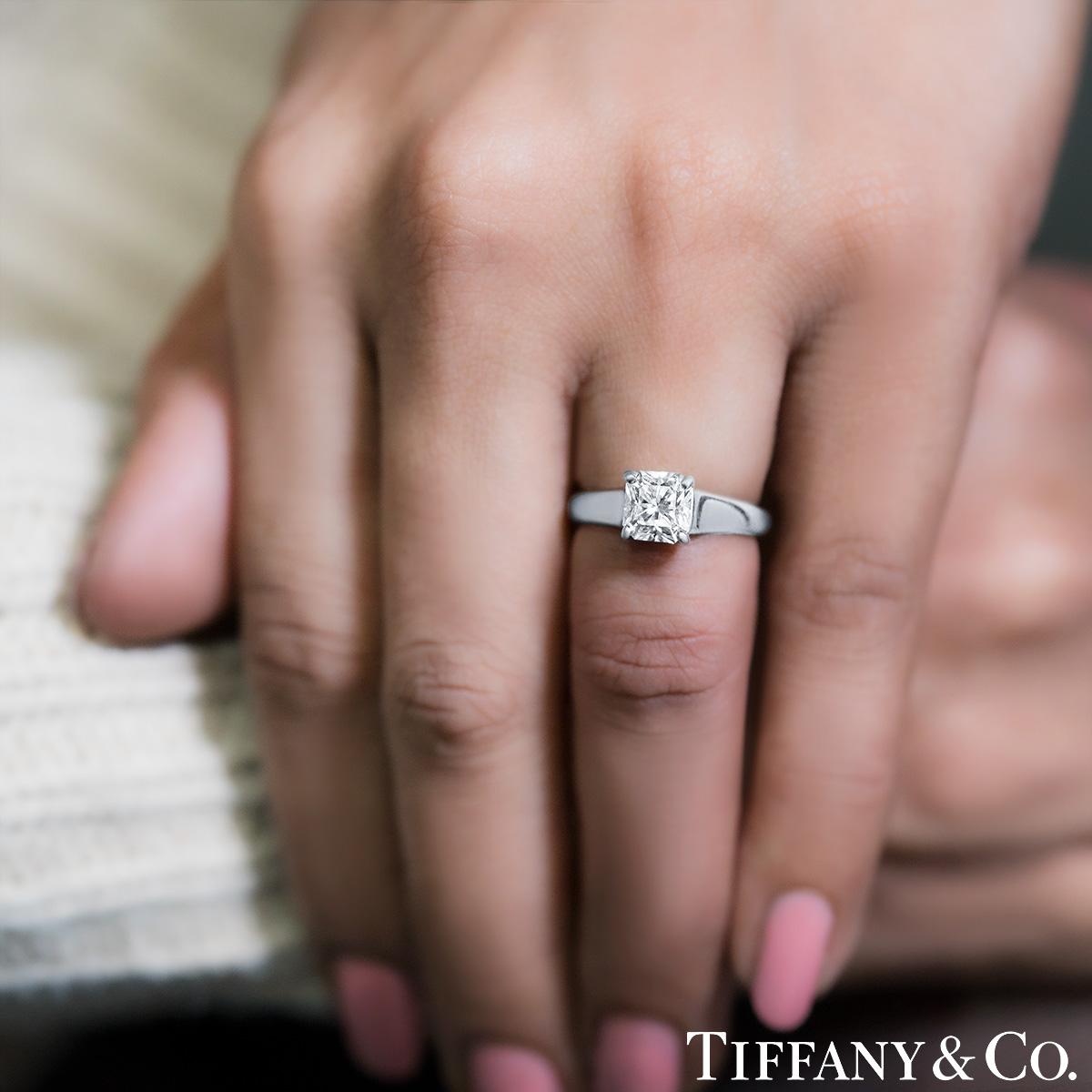 Tiffany & Co. Platinum Diamond Lucida Ring 1.10ct G/VVS1